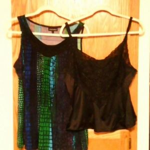 2PC SLEEVELESS TOP AND CAMI.